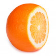 Half orange closeup isolated on white background — Stock Photo #39356645
