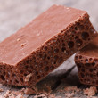 Stock Photo: Aerated chocolate and crumb, horizontal