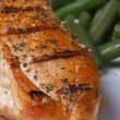 Chicken steak with spices grilled with green beans — Stock Photo #40952985