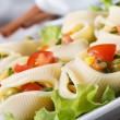 Lumakoni pasta stuffed with fresh vegetables — Stock Photo #44583795