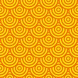 Royalty-Free Stock Vector Image: Yellow wallpaper with circles