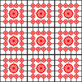 Creative red wallpaper — Stock Vector