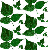 Pattern with leaves, vector — Stock Vector