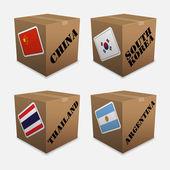 Sinalizadores na caixa — Vetorial Stock
