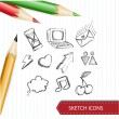 Sketches. Vector — Stock Vector