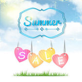 Summer Sale Poster — Stock Vector