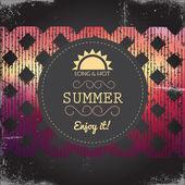 Summer Party Flyer. Vector — Stock Vector