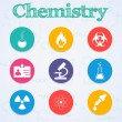 Stock Vector: Chemistry web collection
