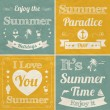 Stock Vector: Collection of Summer