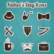 Fathers Day web collection — Stock Vector