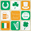 Stock Vector: Ireland web collection