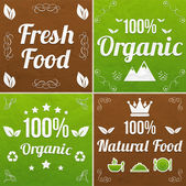 Eco signs web collection — Stock Vector