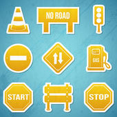 Road signs icon Set — Stock Vector