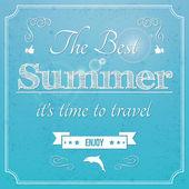 The best Summer — Stock Vector