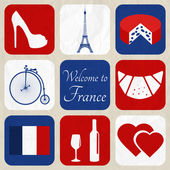 Design Elements - Paris — Stock Vector