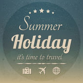 Summer holidays — Stockvector