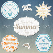 Retro elements for Summer — Stock Vector