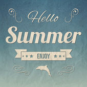 Hello Summer — Stock Vector