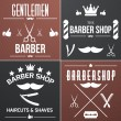 Stock Vector: Barber web collection