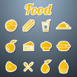 Food icons set — Stock Vector