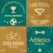 Athletics icons set — Stock Vector