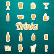 Drink icons set — Stock Vector