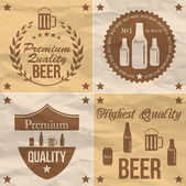 Beer web collection — Stock Vector