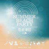 Summer beach party — Stock Vector