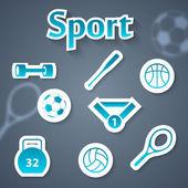 веб коллекция спорт — Cтоковый вектор