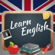 Learn English — Stockvektor