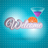 WELCOME hand lettering — Stock Vector