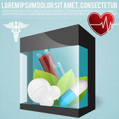 Vector illustration of set of medical icon — Stock Vector