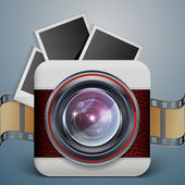 Vintage photo camera icon — Stock Vector