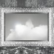 Silver frame and sky — Stock Photo #12117554