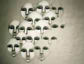 Many faces — Stock Photo