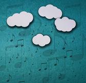 It's raining notes — Stock Photo