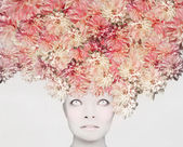 Flowers on my head — Stock Photo