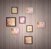 Picture frame with flowers — Stock Photo