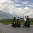 Procession of Maria Ascension in Axams Austria — Stock Photo #12454903