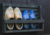 Old wooden shoes — Stock Photo