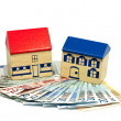Stock Photo: Home and money concept