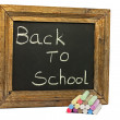 School chark and blackboard — Stock Photo