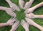All hands together — Stock Photo