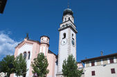 Church in levico terme north Italy — Stock Photo