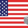 Vector de stock : Voting america