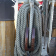 Pulley with rope — Stock Photo