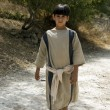Stock Photo: Shepard boy in garden of Nazareth