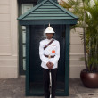 Security at the Royal palce in Bangkok - Stock Photo