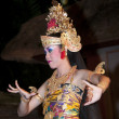 UBUD - 05 April 2011: dancing girl in Ubud Bali dancing for tour — Stock Photo