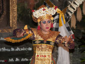 Girl in tradition costume dancing a riligious dance — Stock Photo